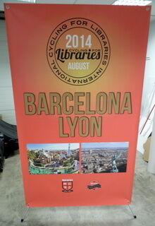 X-banner Barcelona Lyon