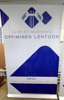 Roll-up 1200x2000 mm Suomen musiikinopetajien liitto